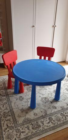 Stolik mamut okrągły, 2 krzesełka, dla dzieci