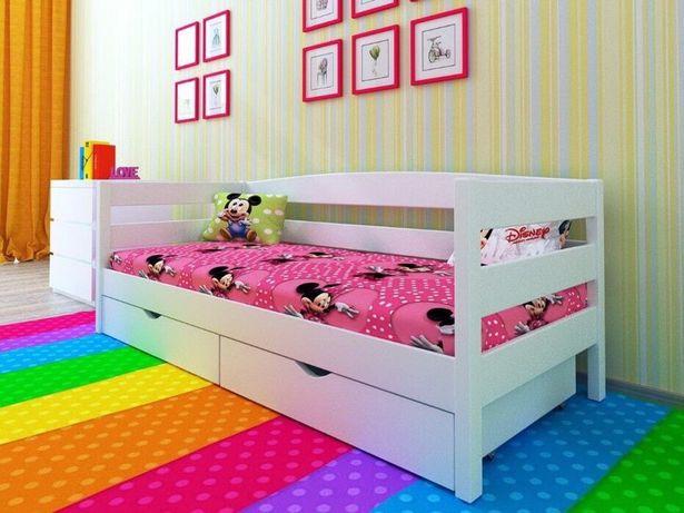 Детская кровать деревянная Нота 80х160 Подростковая Кроватка