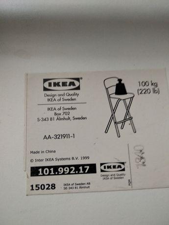 Krzesła IKEA barowe.