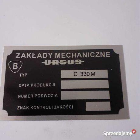 Ursus c 330m tabliczka znamionowa c 330 m