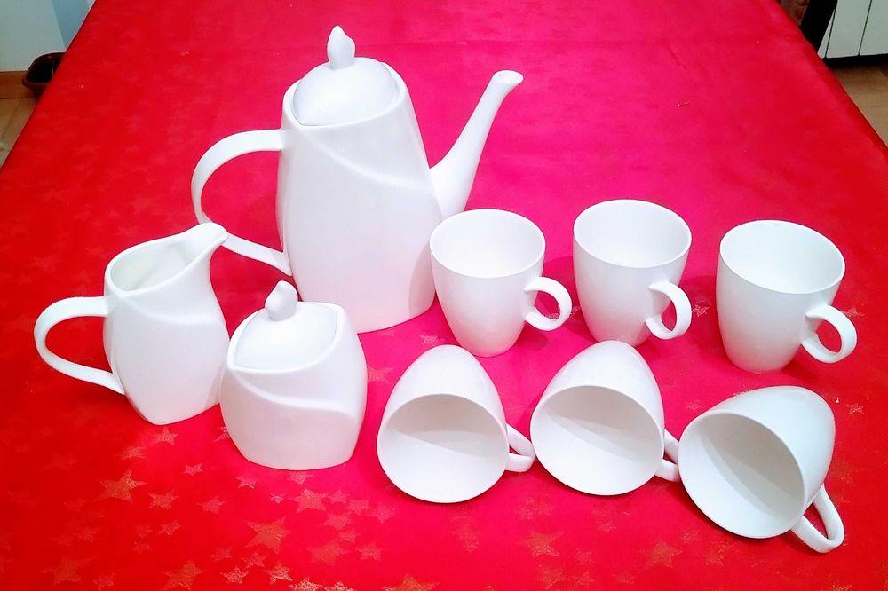 Nowy, nieużywany biały komplet kawowy Płock - image 1