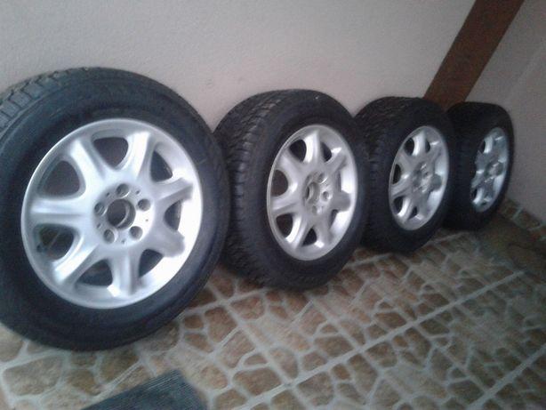 4 Koła Zimowe Alufelgi 16 Mercedes C E S Klasa 5x112 Opony 7mm 225 55