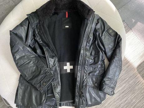 Kurtka Strellson S.C.SQUAD-W rozmiar 56 - woskowana, czarna