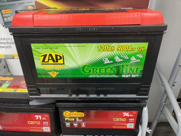 Akumulator Zap Green Line 12V 120Ah 900A P+ Ciągnik Agro Dowóz Kraków