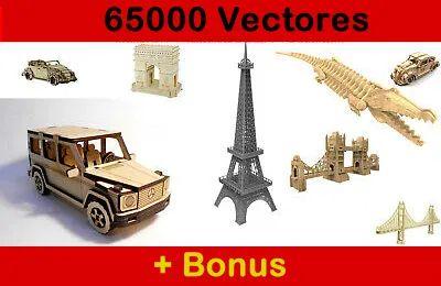 Pack de 65000 Vetores para Máquinas Dxf, Cdr de Corte a Laser e CNC
