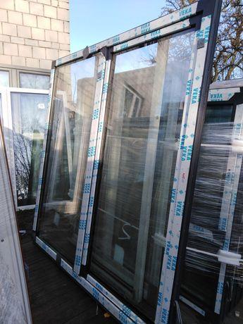 Drzwi tarasowe  przesuwne  295x215 50% ceny VEKA