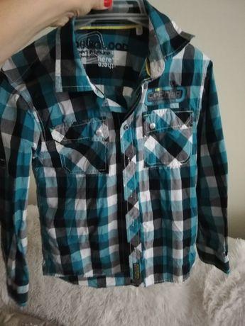 koszula 140 146 kratka, bluza koszula 140/146 kratka niebieska