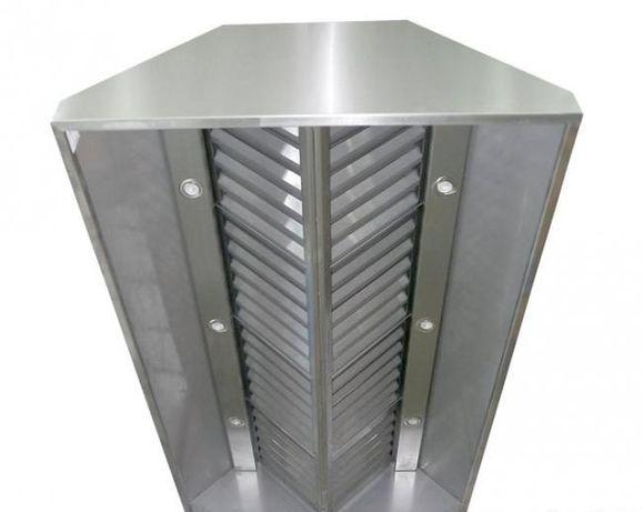 OKAP gastronomiczny CENTRALNY wyspowy 2m x 1,2 m z wyciągiem i filtram