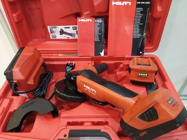 Hilti AG 125-A22 szlifierka kątowa akumulatorowa 2x 5.2Ah 2018r