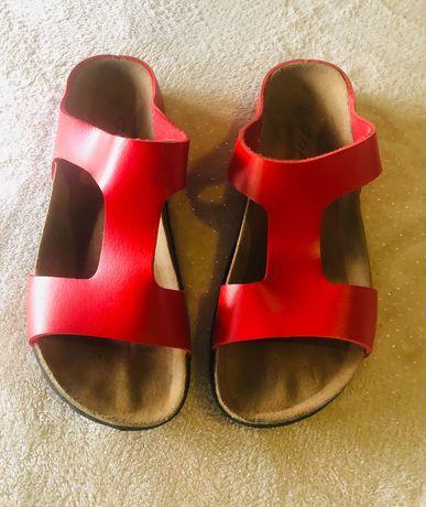 Chinelas como birkenstock super confortáveis calça 38/39 24.5 cm