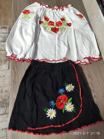 Вышиванка, юбка, кофта