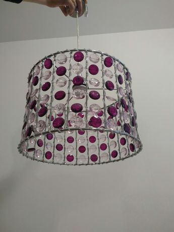 Lampa wisząca żyrandol kryształki