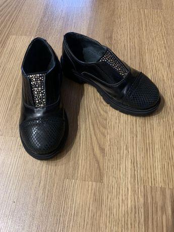 Туфли слипоны Bistfor 30 на девочку кожаные
