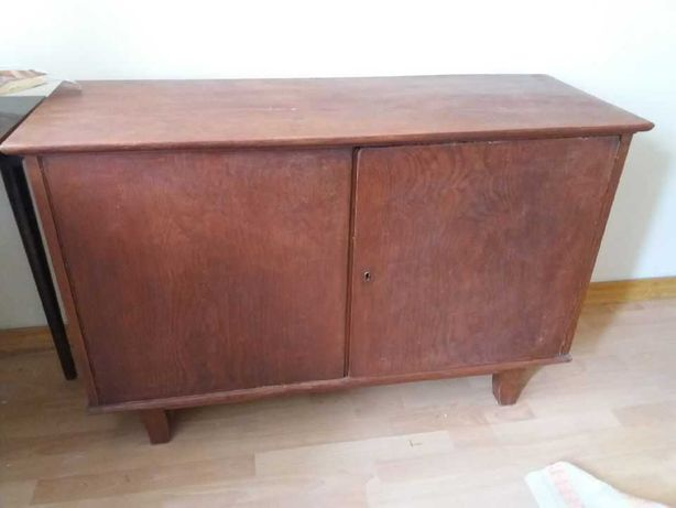Komoda drewniana retro pod telewizor lata 50