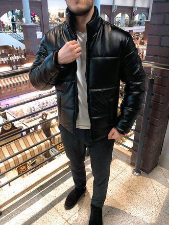 ТОП Мужская куртка кожаная Зима Одежда