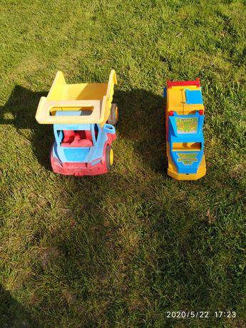 Samochód samochody pojazdy Wader duża wywrotka i śmieciarka