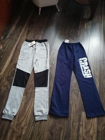 Spodnie dresowe chłopięce 152 NOWE 2 szt. polski producent bawełniane
