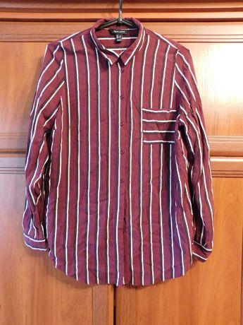 Бордовая рубашка в полоску