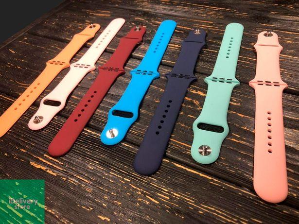 Ремешок силиконовый/стальной для Apple Watch