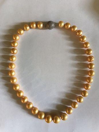 Naszyjnik z naturalnych pereł morskich w kolorze ecru