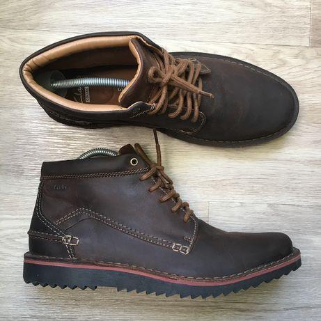 Кожаные ботинки Clarcs размер 43 27,5 см Ecco