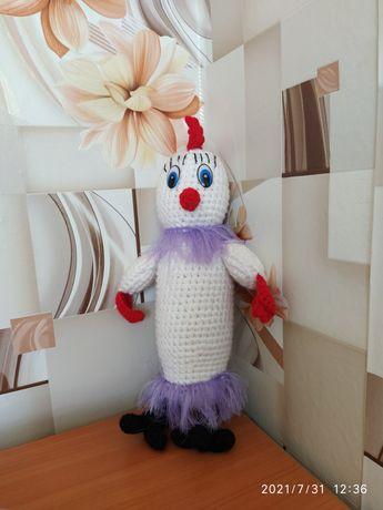 Продам вязаную игрушку попугай