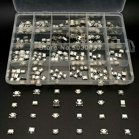 240 розємів в коробці. 24 моделі Micro USB