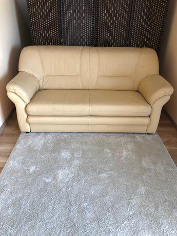 Sofa skórzana ETAP z funkcją spania.