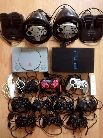 Konsole SONY PlayStation PSX PS2 Pady Kierownice OKAZJA!