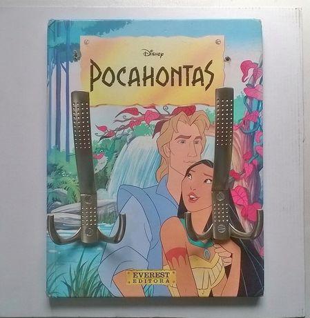 Cabide de Parede feito com livro da Pocahontas