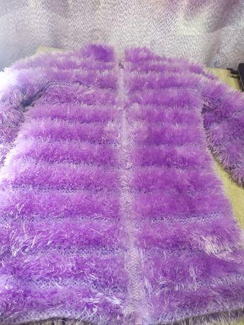 Кофта травка  фиолетовая