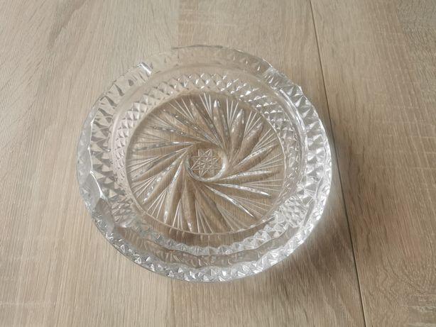 Kryształowa popielniczka PRL 18.5 cm średnicy