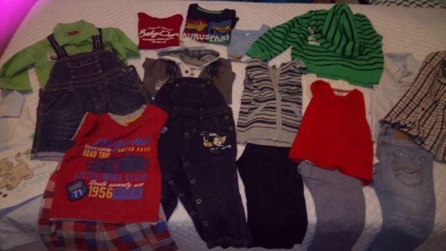 Lote de 20 peças de roupa rapaz tam 9-12 m