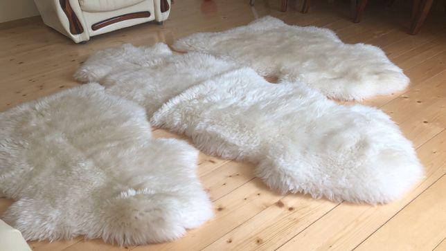 Зшиті килимки з шкур овечих, натуральні шкури