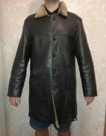 Куртка мужская кожаная на меху.
