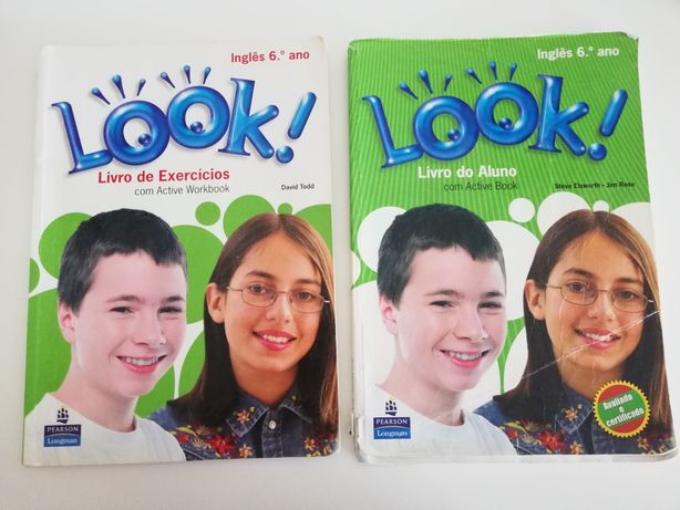 """Manual e caderno de atividades """"LOOK! """" de Inglês 6°ano"""