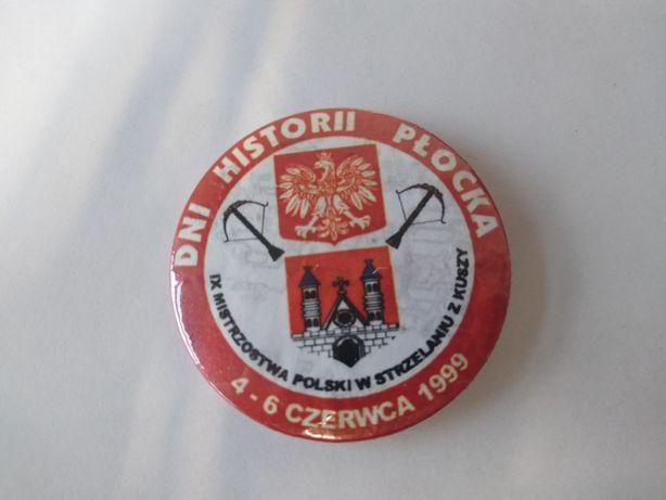 Przypinka z okazji Dni Historii Płocka 1999