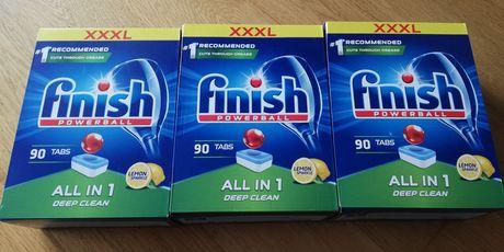 tabletki do zmywarki 90 sztuk FINISH ALL in 1 =0,44gr/szt-jest 5paczek