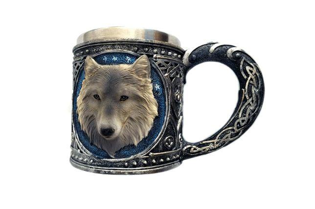 Кружка Чашка Seta Decor Волк 3D Нержавеющая Сталь