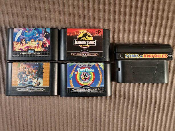 Jogos Sega Mega Drive Streets of Rage Sonic Jurassic Park Tiny Toon