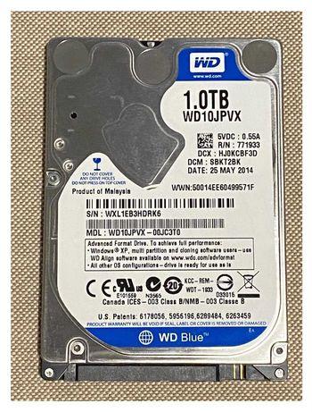 """Dysk twardy Western Digital Scorpio Blue 1000 GB 1TB SATA III 2,5"""""""
