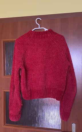 czerwony sweter h&m