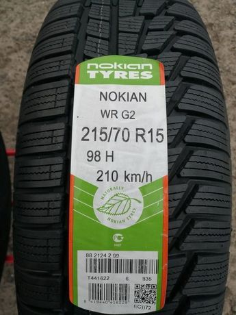 215/70/15 R15 98H nokian WR G2 4шт ціна за 1шт нові зима
