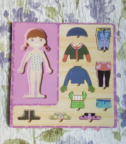 Zestaw zabawek ukladanka ubieranka,ukladanka zwierzeta morskie,puzzle