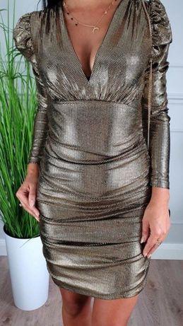 Sukienka srebrna rozmiar L