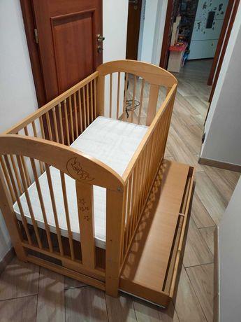 Łóżeczko dziecięce KLUPŚ 120x60cm plus materac gryka-kokos