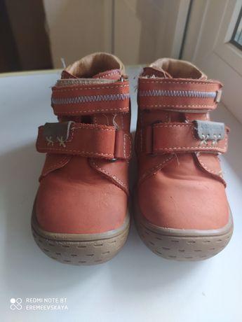 Осенние кожа ботиночки