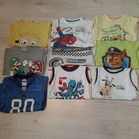 Zestaw koszulek/t-shirt dla chłopca r 110/116