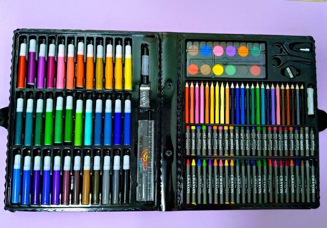 Творческий набор 150 предметов карандаши, краски, фломастеры
