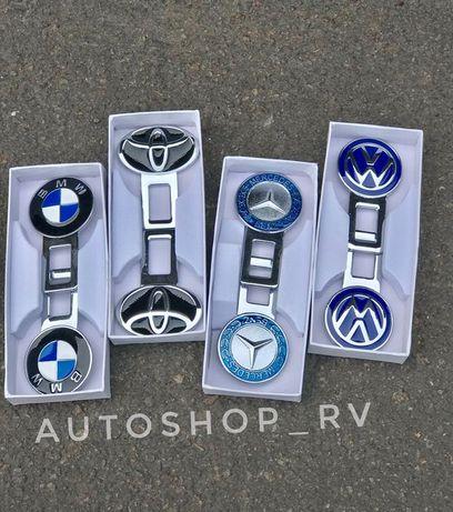 Заглушки ремня безопасности с логотипом Авто металические